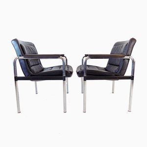 Leather Series 8400 Lounge Chairs by Jorgen Kastholm for Kusch + Co, Set of 2