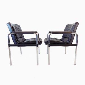 Leder Serie 8400 Sessel von Jorgen Kastholm für Kusch + Co, 2er Set