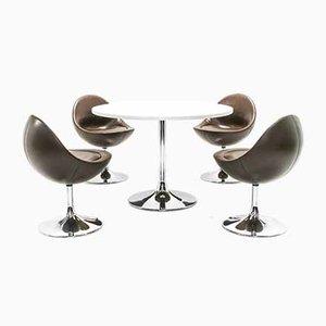 Venus Tulip Dining Set by Börje Johanson for Johanson Design, 1970s, Set of 5