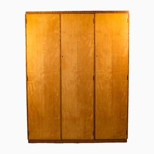 Art Deco Wardrobe in Maple and Rosewood by Maple & Co., London, 1930s