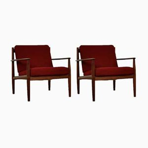 Danish Teak Armchairs by Grete Jalk for France & Søn, 1960s, Set of 2