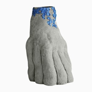 Raw Sculptural Series Ceramic Vase 07 by Anna De