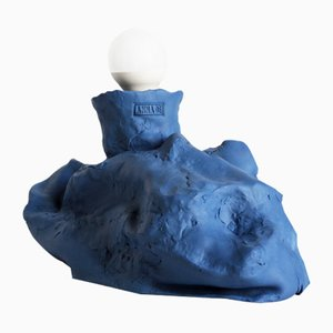 Dress Your Space Up Series Blue Ceramic Table Lamp
