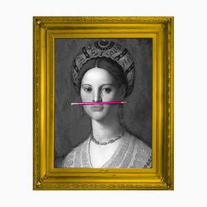 The Pink Pencil Medium Printed Canvas from Mineheart