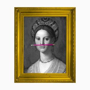The Pink Pencil Medium Printed Canvas von Mineheart