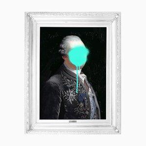 Monsieur Mint Medium Printed Canvas von Mineheart
