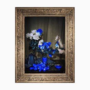 Große bedruckte Leinwand aus Kobaltblau von Mineheart