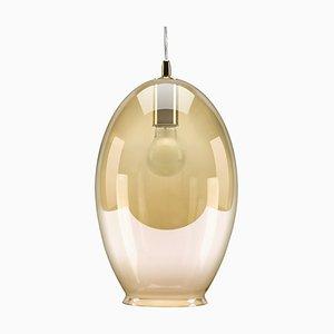 Amber Tint Vase-Shaped Pendant Lamp from Mineheart