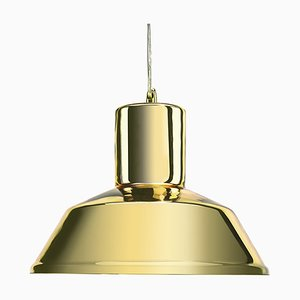 Gold Mirrored Factory Pendant Lamp from Mineheart