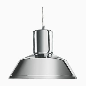 Silver Mirrored Factory Pendant Lamp from Mineheart