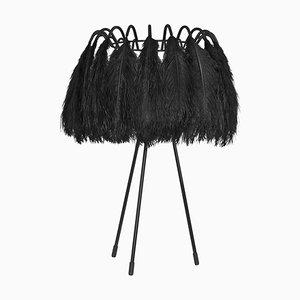Lampada da tavolo All Black Feather di Mineheart