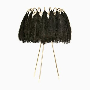 Black Feather Table Lamp from Mineheart