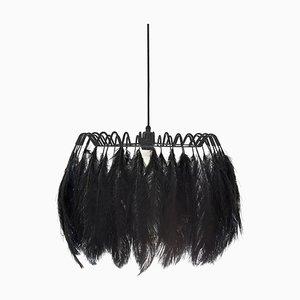 All Black Feather Hängelampe von Mineheart