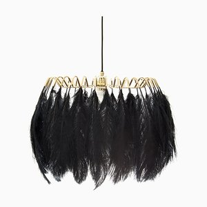 Black Feather Pendant Lamp from Mineheart