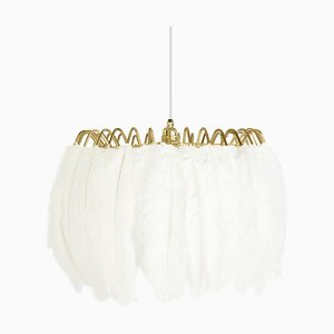 White Feather Pendant Lamp from Mineheart