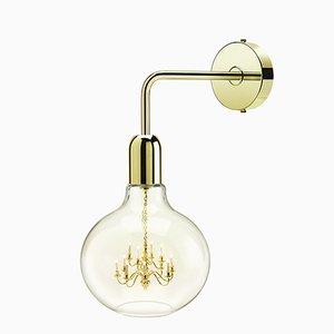Gold King Edison Wandlampe von Mineheart