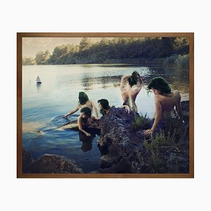 Upon the Rock of Silent ..Mittelgroße bedruckte Leinwand von Mineheart