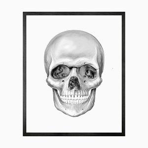 Da Vinci Skull, Medium Bedruckte Leinwand von Mineheart