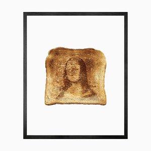 Mona Lisa Toast, gerahmte bedruckte Leinwand von Mineheart