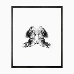 Reflection of Anatomy, Framed Medium Printed Canvas from Mineheart