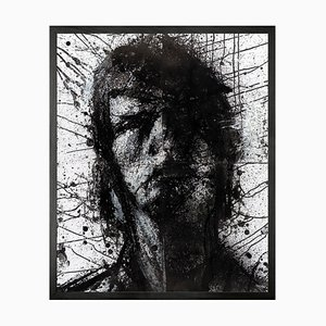 Head of Mike 1, Framed Medium Printed Canvas from Mineheart