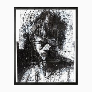 Head of Mike 2, Framed Medium Printed Canvas from Mineheart