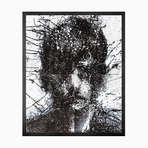 Head of Mike 4, Framed Medium Printed Canvas from Mineheart