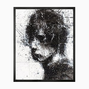 Head of Mike 3, Framed Medium Printed Canvas from Mineheart