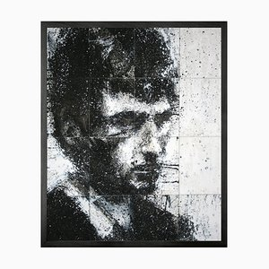 Head of Mike 5, Framed Medium Printed Canvas from Mineheart