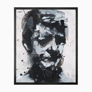 Self Portrait No. 9, Gerahmte Bedruckte Leinwand von Mineheart