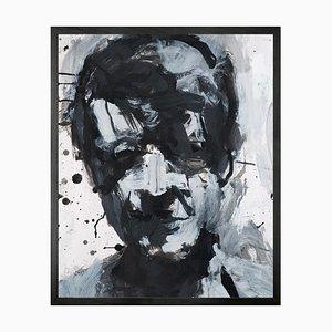 Self Portrait No. 8, Gerahmte Bedruckte Leinwand von Mineheart