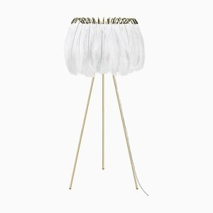 Feather Floor Lamp in White from Mineheart