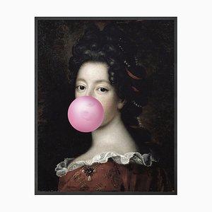Großes Bubblegum Portrait - 1 Printed Canvas von Mineheart
