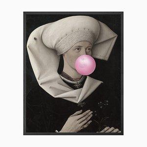 Großes Bubblegum Portrait - 2 Printed Canvas von Mineheart