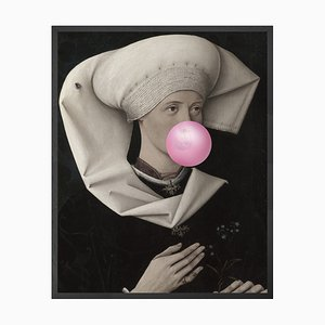 Large Bubblegum Portrait - 2 Printed Canvas from Mineheart