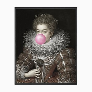 Large Bubblegum Portrait 3 Printed Canvas from Mineheart