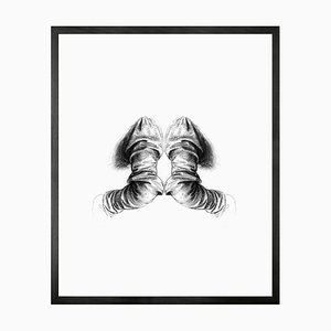 Reflection of Anatomy Framed Large Printed Canvas from Mineheart