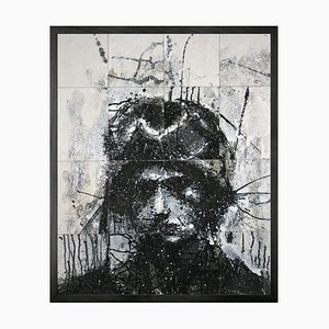 Leiter von Mike 6 (v2) Framed Printed Canvas Large von Mineheart