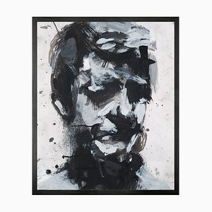 Selbstporträt Nr. 9 Gerahmtes Großes Druckbild von Mineheart