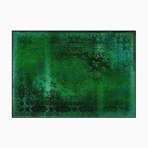Tapis Kashan Remix Vert de Mineheart