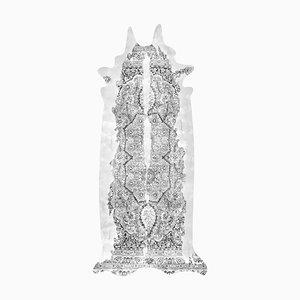 Superlanger grauer Teppich aus Rindsleder von Mineheart
