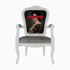 Red Mark Portrait Printed Armchair from Mineheart