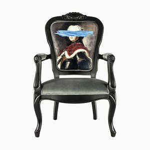 Blue Mark Portrait Printed Armchair from Mineheart