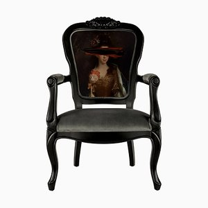 Black Mark Portrait Printed Armchair from Mineheart