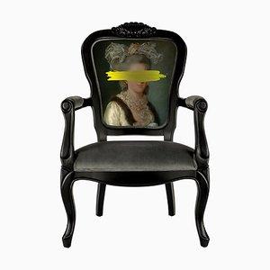 Gelber Mark Portrait Printed Armlehnstuhl von Mineheart