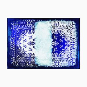 Kashan Remix Blue White Teppich von Mineheart