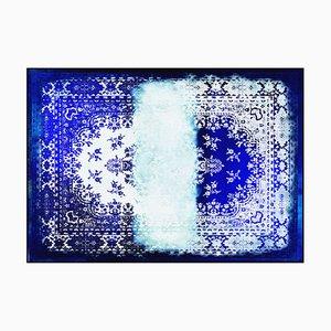 Tapis Kashan Remix Bleu Blanc de Mineheart