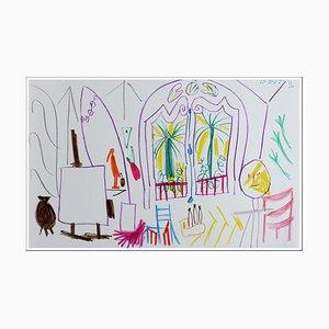 Nach Pablo Picasso, Spezifikationen von California Xi, 1959, Lithographie
