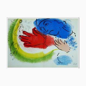 Litografia originale di Marc Chagall, Écuyère, 1956