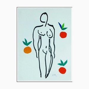 Litografia di Henri Matisse, Nude with Oranges, 1958